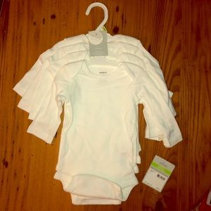 Carters 3 month set of 4 white long sleeve onesies